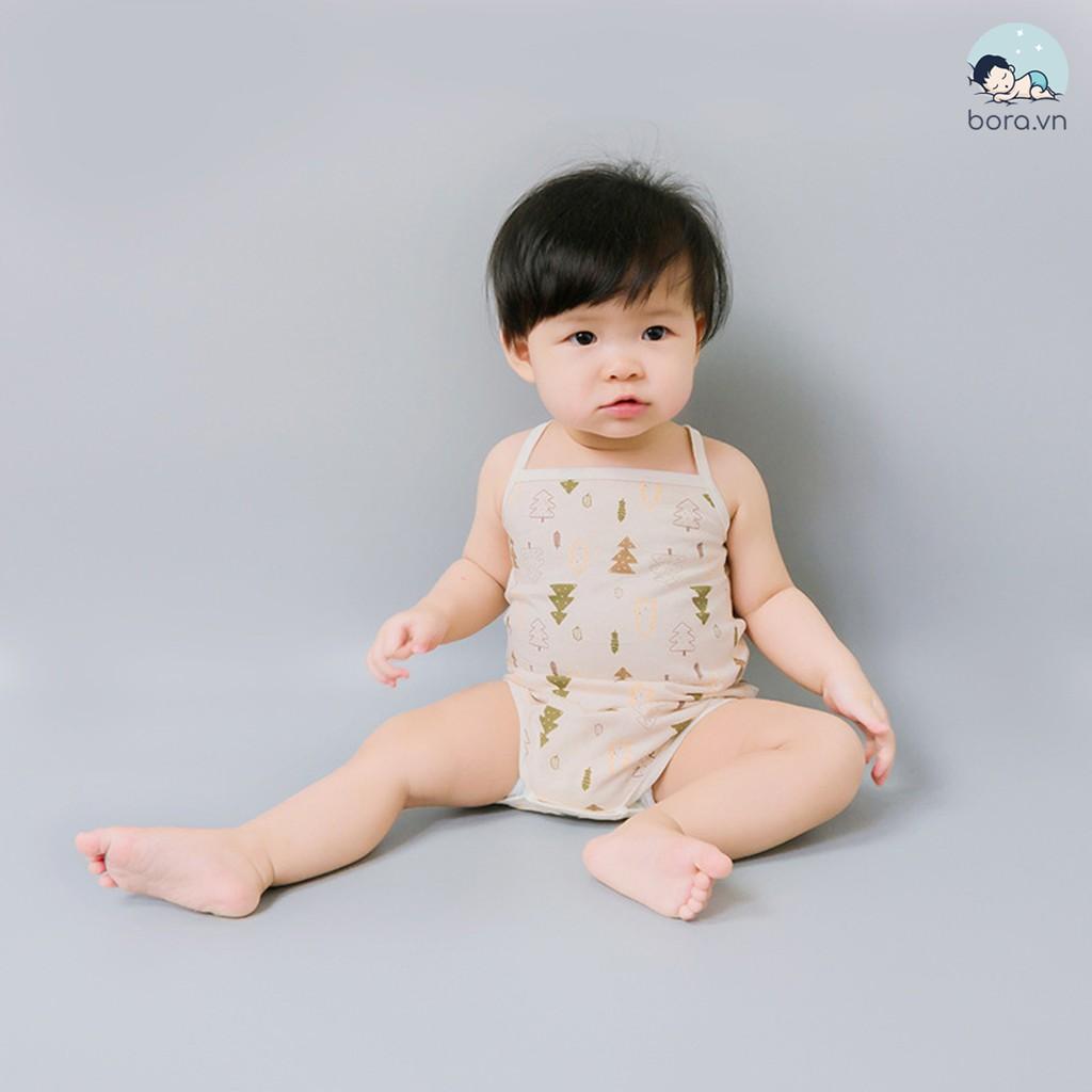 Body 2 dây cotton hữu cơ tự nhiên 100% cho bé gái
