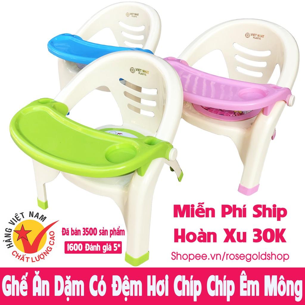 Ghế ăn dặm Việt Nhật có đệm êm mông, có còi chíp chíp vui tai