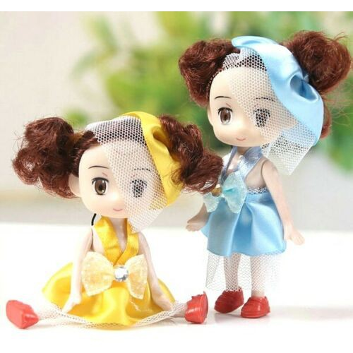 1PC Sweet Lolita Princess Dolls Girls Phone Bag Pendant Ring 10cm Random