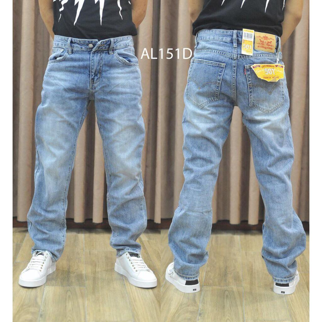 Quần jeans ống suông nam 2020