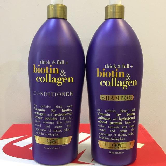 Dầu Gội và Xả Thick and Full Biotin & Collagen OGX - 750ml - Xuất xứ Mỹ - 3101190 , 806419724 , 322_806419724 , 380000 , Dau-Goi-va-Xa-Thick-and-Full-Biotin-Collagen-OGX-750ml-Xuat-xu-My-322_806419724 , shopee.vn , Dầu Gội và Xả Thick and Full Biotin & Collagen OGX - 750ml - Xuất xứ Mỹ