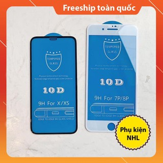 Cường lực full màn 10D iphone 6/6s/6Plus/6sPlus/7/8/7Plus/8Plus/X/Xs/XsMax/ip12 5.4/6.1/6.7 Full màn (tặng giấy lau 1/2)