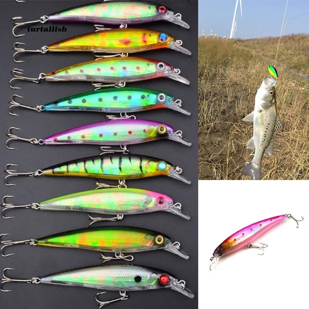 TUR♥11cm/13.4g Minnow Fishing Lure Bass Hard  6# Hook Tackle Plastic Bionic Bait