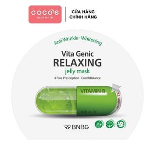 Mặt nạ dưỡng da Thư Giản Và Phục Hồi Da BNBG Vita Genic Relaxing Jelly Mask(Vitamin B) 30ml [BNBG X-LÁ]
