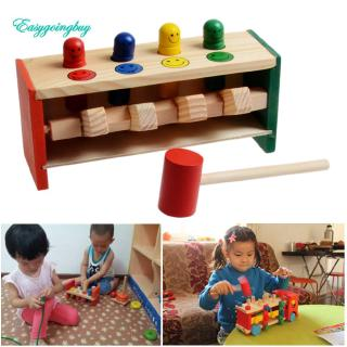Toy ♡ Children's Toddlers Educational Toy Wooden Game Hammering Bench Hammer