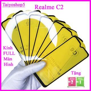 Kính cường lực REALME C2 full màn hình, Ảnh thực shop tự chụp, tặng kèm bộ giấy lau kính taiyoshop5 thumbnail