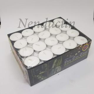 Nến tealight trắng 100 viên không khói thumbnail