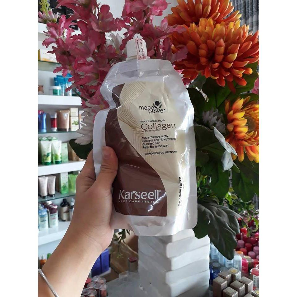 Dầu hấp tóc Collagen Karseell Maca cho tóc siêu mềm mượt 7 túi bán combo - 10012092 , 648589013 , 322_648589013 , 210000 , Dau-hap-toc-Collagen-Karseell-Maca-cho-toc-sieu-mem-muot-7-tui-ban-combo-322_648589013 , shopee.vn , Dầu hấp tóc Collagen Karseell Maca cho tóc siêu mềm mượt 7 túi bán combo