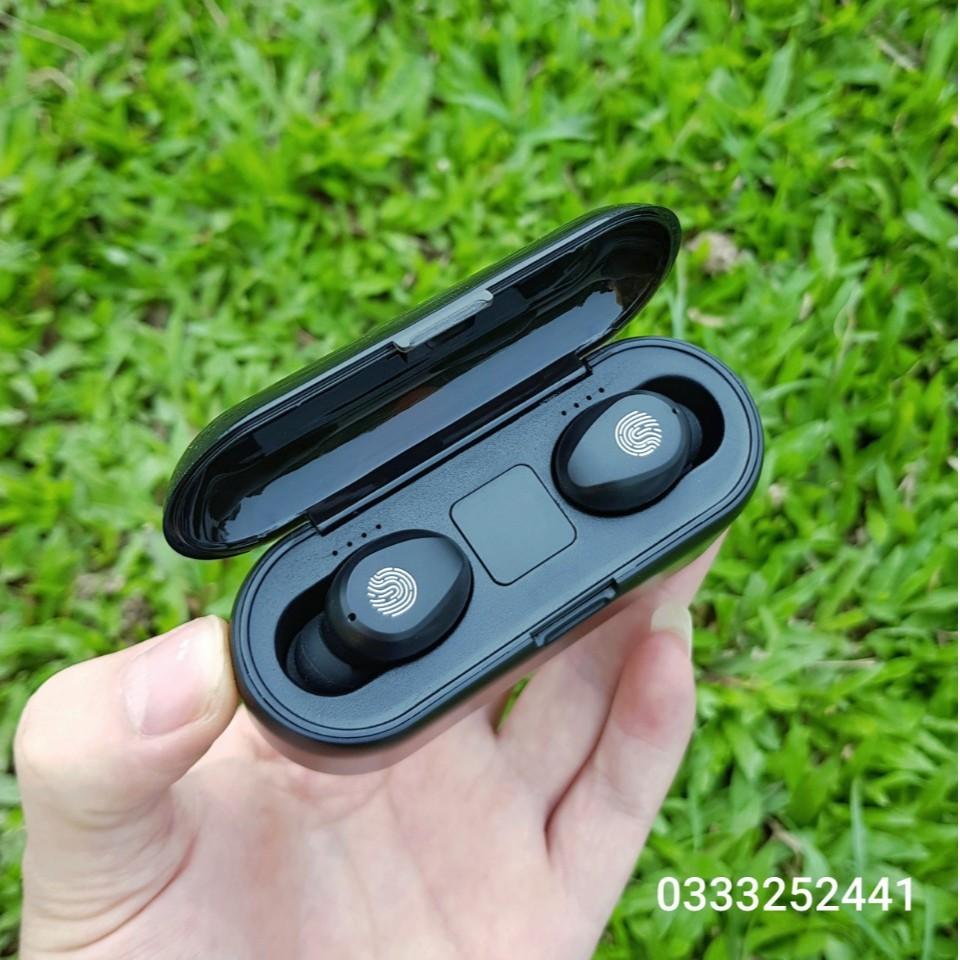 Tai nghe true wireless AMOI F9   bản QUỐC TẾ   nút cảm ứng   Bluetooth 5.0   Pin 280 giờ   sạc dự phòng 2019
