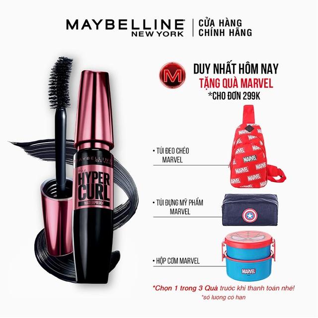 Mascara Dài Mi và Cong Mi Maybelline New York Hyper Curl WaterproofChuốt Mi Đen 9.2ml