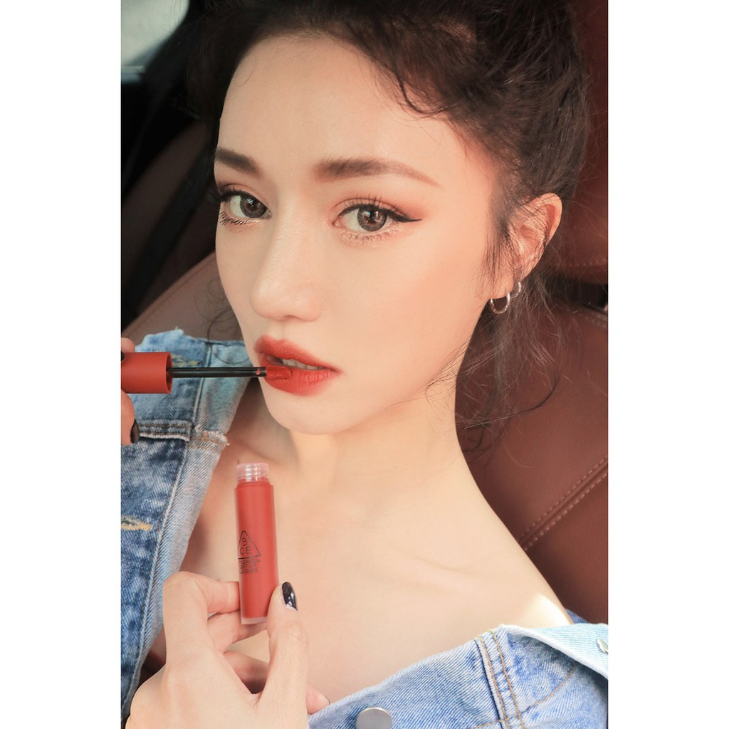 Son kem 3ce Soft Lip Lacquer( Null, Ex, change, Tawny)
