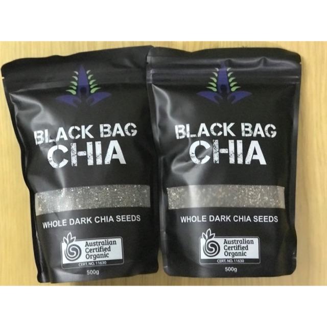Combo 1 Chia seed tím 250g,1 kg yến mạch,1 chia đen 500g