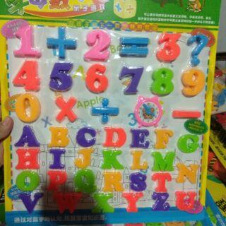 [Shopee trợ giá] Hàng 39k, bảng chữ cái và số giúp cho bé vừa chơi vừa học 1 cách vui vẻ