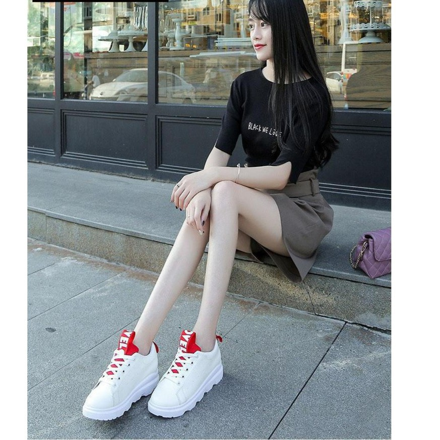 Giày thời trang thể thao nữ TRT-GTTNU-04-TR ( màu trắng đen)