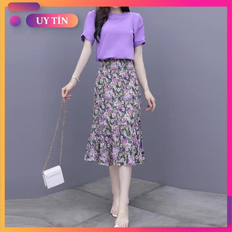 Chân váy, chân váy dài hoa nhí Vintage Ulzzang style đuôi cá, form chuẩn , mẫu hot trend