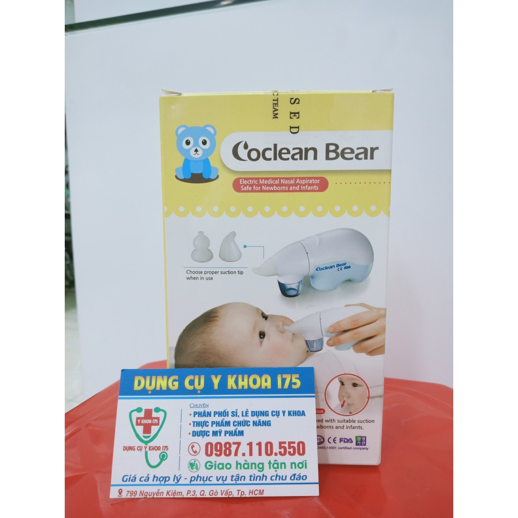 Máy hút dịch mũi cho bé Coclean Bear