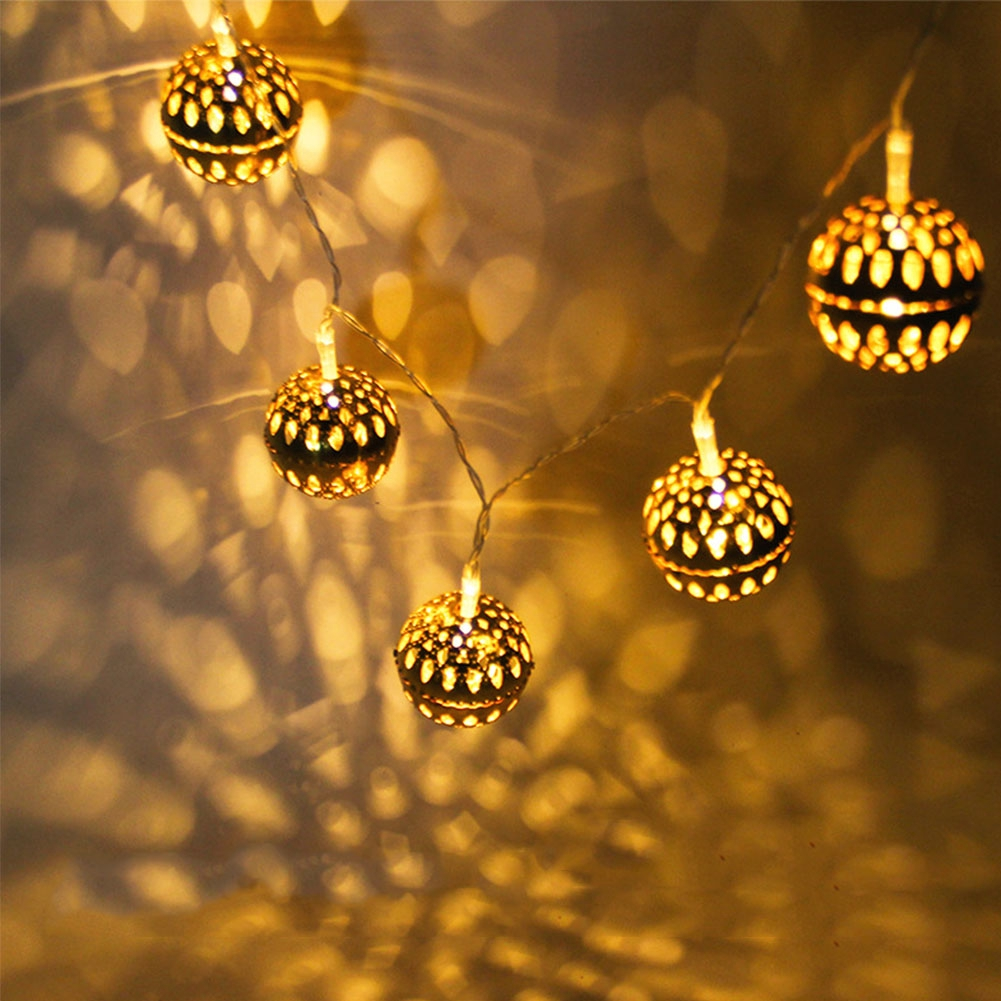 3 Meter 20 Lights Ball Weddinng Decorative Warm White Holiday USB Fairy String Hollow Out Led Birthday
