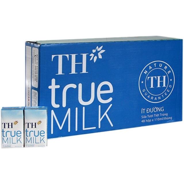Sữa tươi TH ít đường 110ml