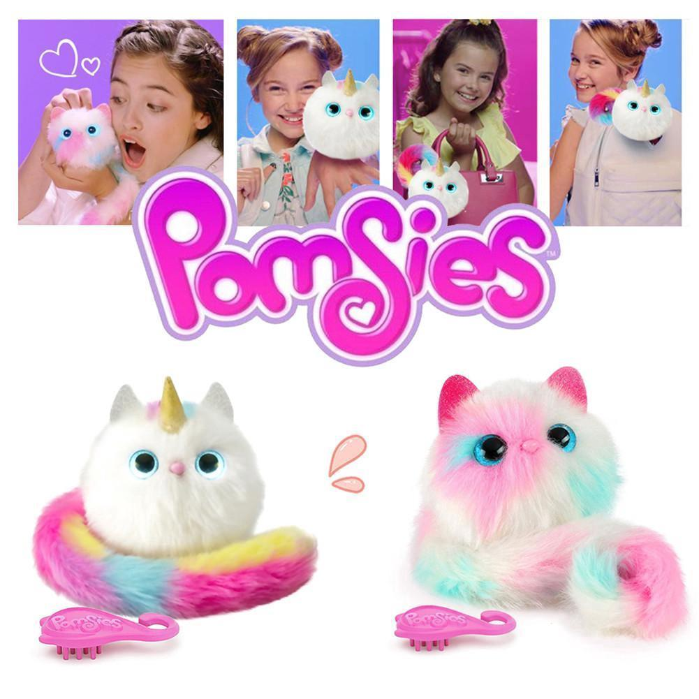 Surprise Pomsies Cat Plush Interactive Toys Pomsies Wrapples Electronic Toys TONG