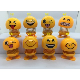 FREESHIP_Bộ 4 Emoji lò xo hộp nhỏ thú nhún biểu tượng cảm xúc
