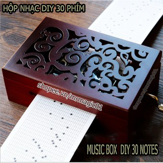 (Có video test) Hộp nhạc DIY đa năng 30 Phím Tự Soạn Cao Cấp (Music Box 30 notes DIY)