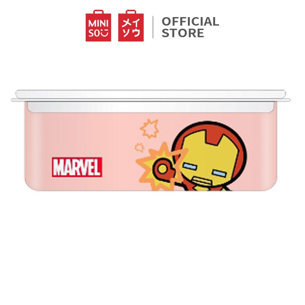 Hộp nhựa bento Miniso in hình Marvel 950ml - Hàng chính hãng