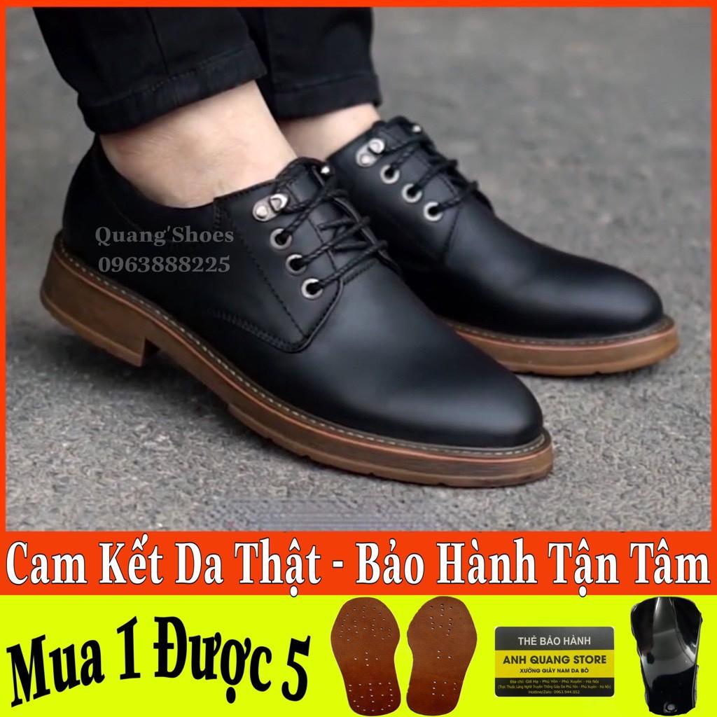 [SALE ĐẦU NĂM]Giày Da Nam Cao Cấp Da Mềm Mại - Da Bò Thật - Cột Dây Phong Cách Trẻ Trung Cá Tính Mạnh Mẽ Dr25