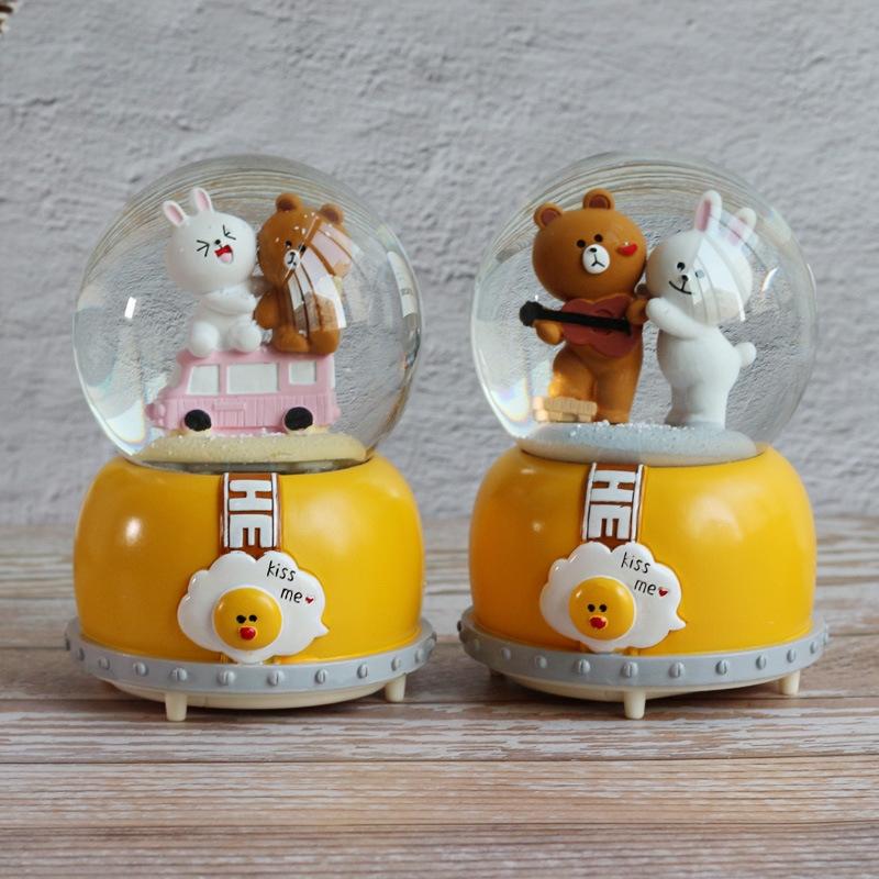 Hộp Nhạc Hình Thỏ/gấu/thỏ Đáng Yêu