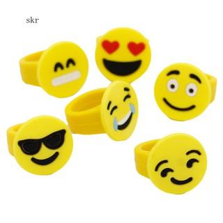 Set 10 nhẫn hình biểu tượng cảm xúc đáng yêu dành cho các bé