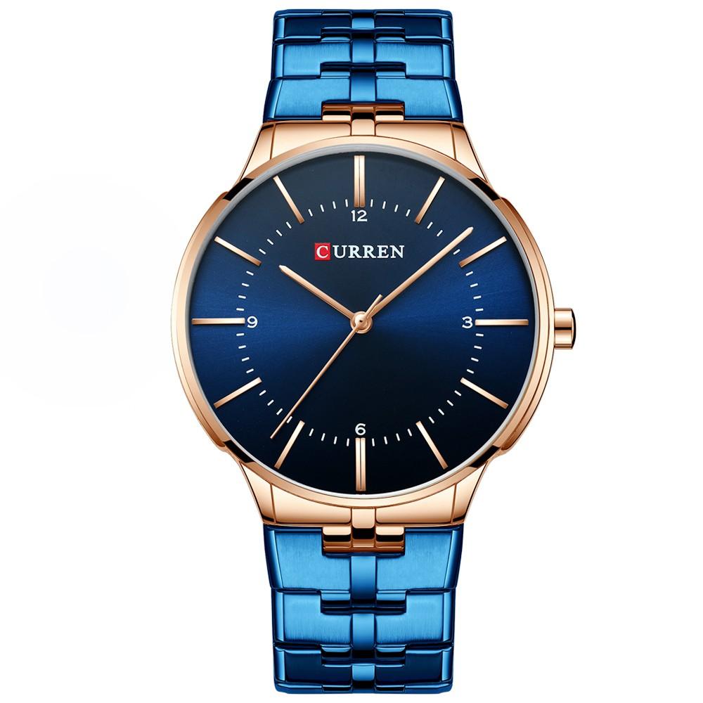 【Hot】 CURREN 8321 Watch Quartz Men Gentlemen Brand Stainless Steel Daily Waterproof Round Dial
