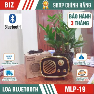 [Mã ELFLASH5 giảm 20K đơn 50K] Loa bluetooth kiểu dáng RADIO MLP 19 - Bảo hành 3 tháng!!!