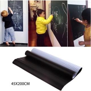 Decal Bảng Đen Viết Phấn Bảng Decal Dán Tường Thông Minh Có Màu Xanh Lá Size 45x200cm