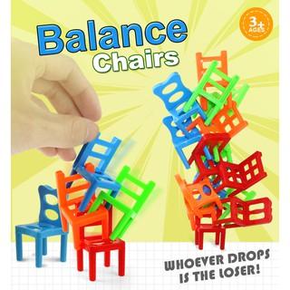 Set 18 chiếc ghế mini bằng nhựa cho bé chơi trò cân bằng độc đáo thú vị