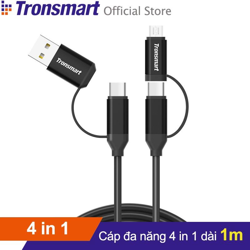 Cáp sạc đa năng TRONSMART C4N1 USB-C ra USB-C 4 trong 1 - Hãng phân phối chính thức