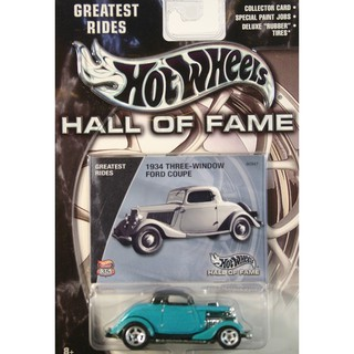 Xe mô hình 1:64 Hot Wheels Hall of Fame – 1934 Three-Window Ford Coupe
