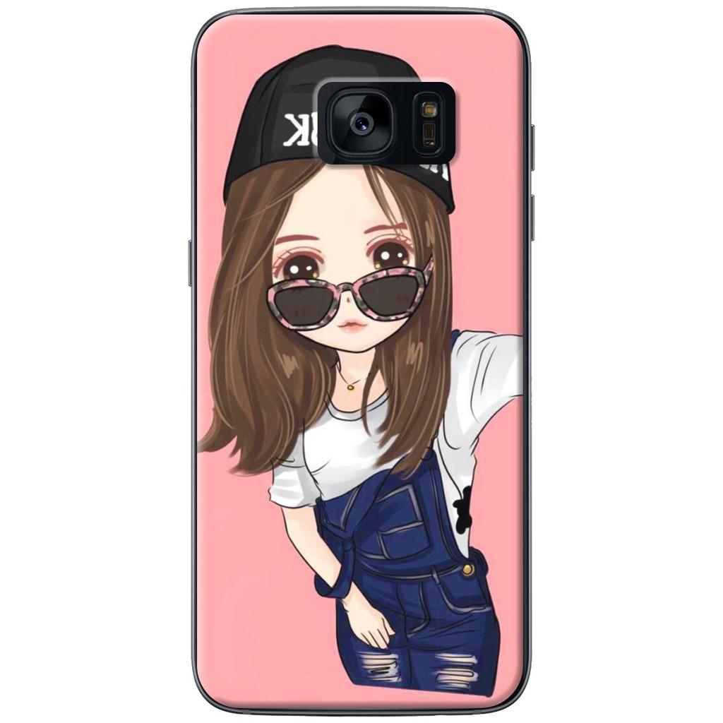 Ốp lưng nhựa dẻo Samsung S7, S7 Edge Em selfie