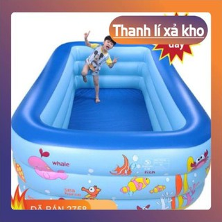 [ƯU ĐÃI CHO BÉ]- [Loại 1+Giá sỉ] Bể bơi phao cho bé 3 tầng đủ tất cả kích cỡ có đế chống trượt , có kèm bơm điện