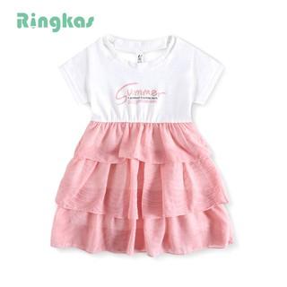 Ringkas đầm bé gái đầm cho bé váy trẻ em váy bé gái váy hè bé gái váy bé gái mùa hè đầm xòe công chúa Đầm Thời Trang Cho Bé Gái Từ 1-6 Tuổi / 4 Tuổi