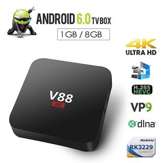Hộp Tv Thông Minh V88 Rk3229 4k Lõi Tứ 8gb Wifi Media Player Tv Box Thông Minh