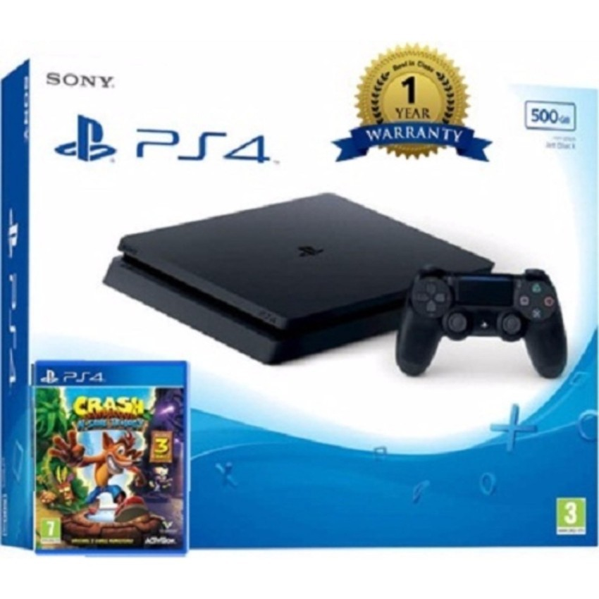 Máy chơi game Sony PS4 Slim 500GB CUH 2106 tặng kèm 1 đĩa Crash Bandicoot N. Sane Trilogy - 3494309 , 760898434 , 322_760898434 , 8490000 , May-choi-game-Sony-PS4-Slim-500GB-CUH-2106-tang-kem-1-dia-Crash-Bandicoot-N.-Sane-Trilogy-322_760898434 , shopee.vn , Máy chơi game Sony PS4 Slim 500GB CUH 2106 tặng kèm 1 đĩa Crash Bandicoot N. Sane Tr
