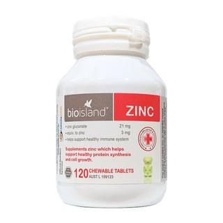 Viên Uống Bổ Sung Bio Island ZinC Chawable 120 Viên thumbnail