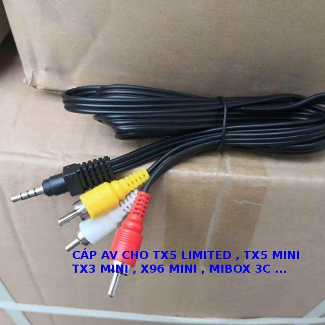 Cáp AV 1 ra 3 cho tx5 , tx5 mini , tx3 mini , x96 mini , mibox 3c