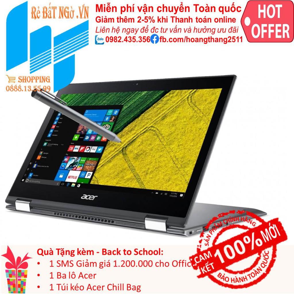 Laptop Acer Spin 5 SP513-52N-556V NX.GR7SV.004 13.3 inch FHD_i5-8250U_8GB_UHD 620_Win10_1.5 kg Giá chỉ 20.290.000₫