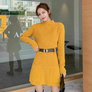 FLASH SALE Váy len túi Kèm đai Quảng châu – Thời trang 2022