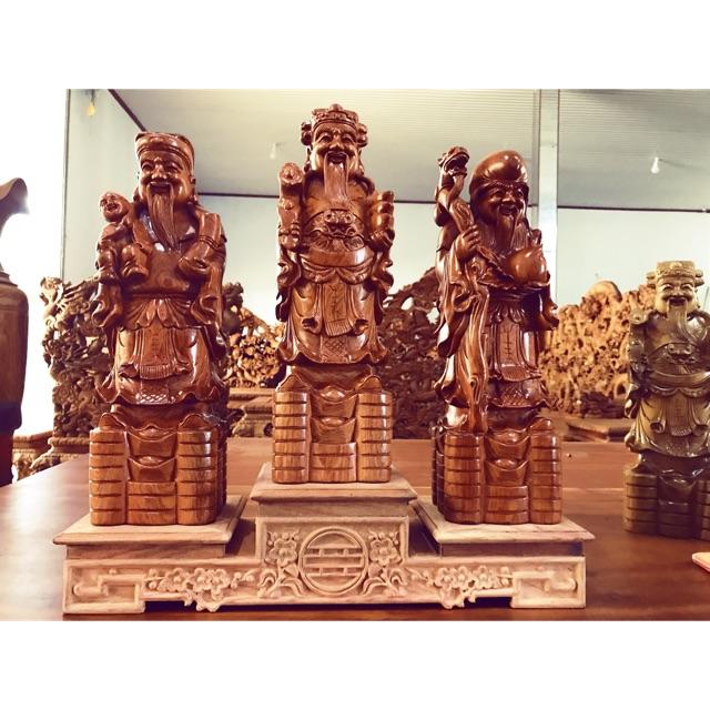 Tam đa Phúc Lộc Thọ gỗ hương đá kích thước 60-20-15 | Shopee Việt Nam
