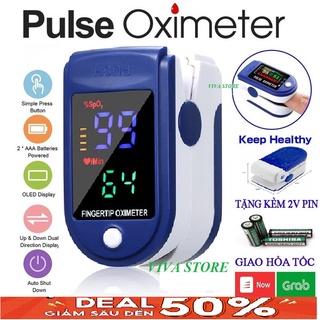 Máy đo nồng độ Oxy oxi trong máu pulse oximeter Spo2, máy kiểm tra nhịp tim cầm tay nhanh, chính xác cao thumbnail