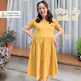 Váy bầu thiết kế dự tiệc công sở mùa hè 2MAMA suông đuôi cá dáng dài - V05 thumbnail