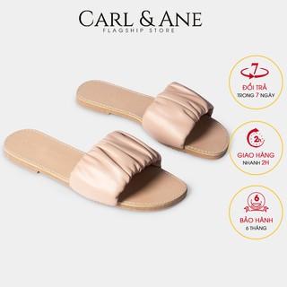Carl & Ane - Dép nữ thời trang quai ngang nhu n họa tiết đơn giản dê phô i đô màu nude - DC002 thumbnail