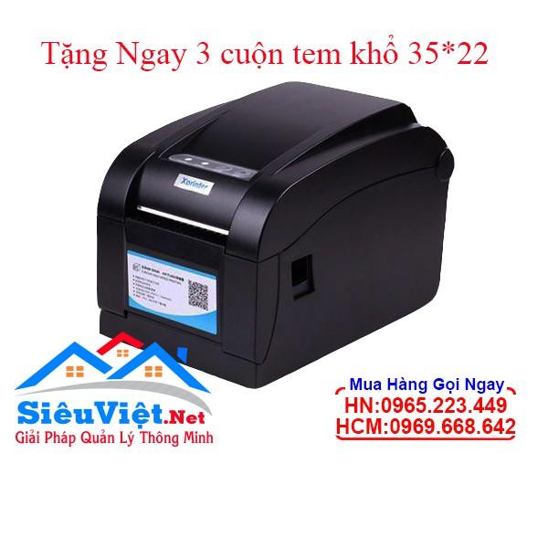 Máy in tem mã vạch Xprinter 350B 2 chức năng in tem và in biull Giá chỉ 1.650.000₫