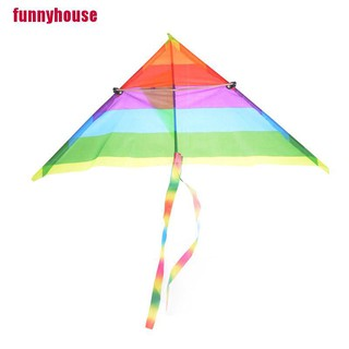 [funnyhouse]1PC Rainbow Kite Outdoor Baby Toys For Kids Kites without Control Bar and Line